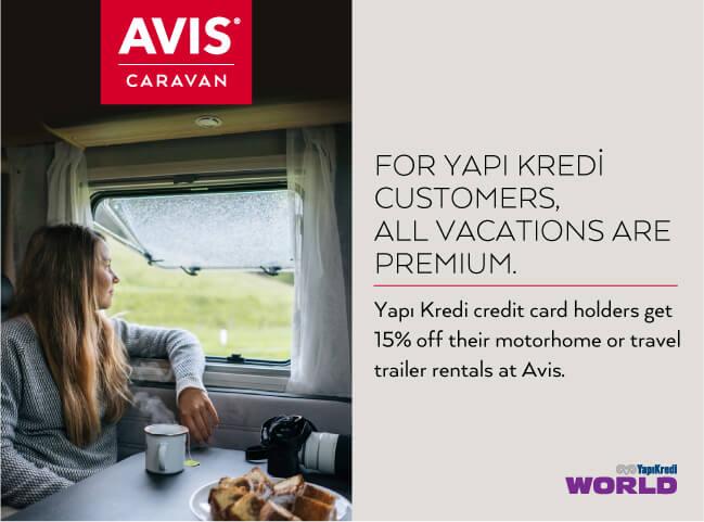 Special Offer from Avis Caravan to Yapı Kredi Customers!