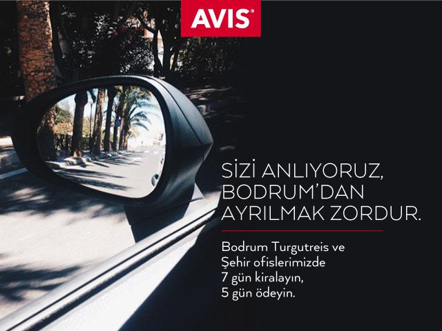 Avis Bodrum Turgutreis ve Şehir Ofislerimizden Mükemmel Kampanya!