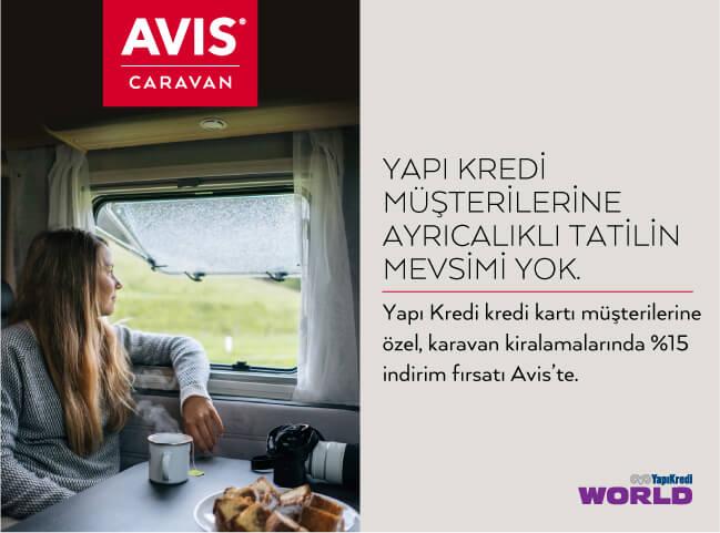 Avis Caravan'da Yapı Kredi Müşterilerine %15 İndirim!